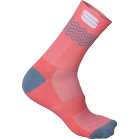 Sportful Flair 15 Socks coral fluo/tradewinds